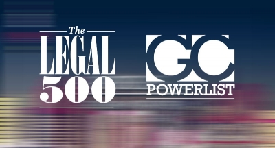 "Award: ""The Legal 500"""
